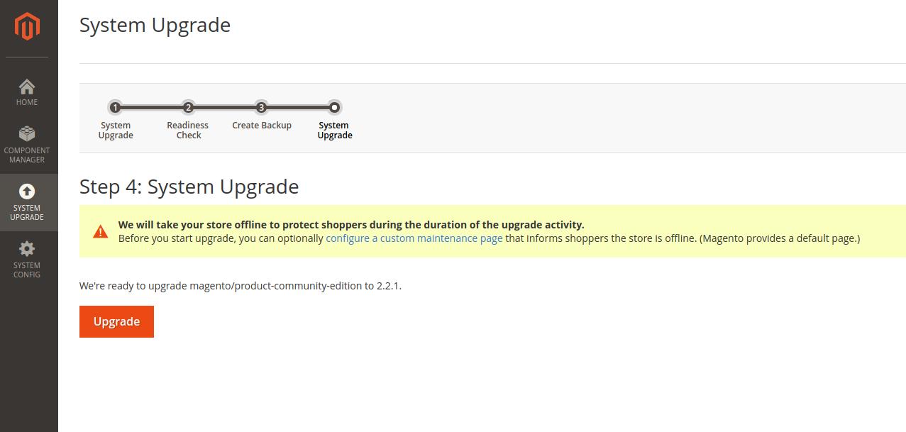 Magento 2 update Último paso de la actualizació