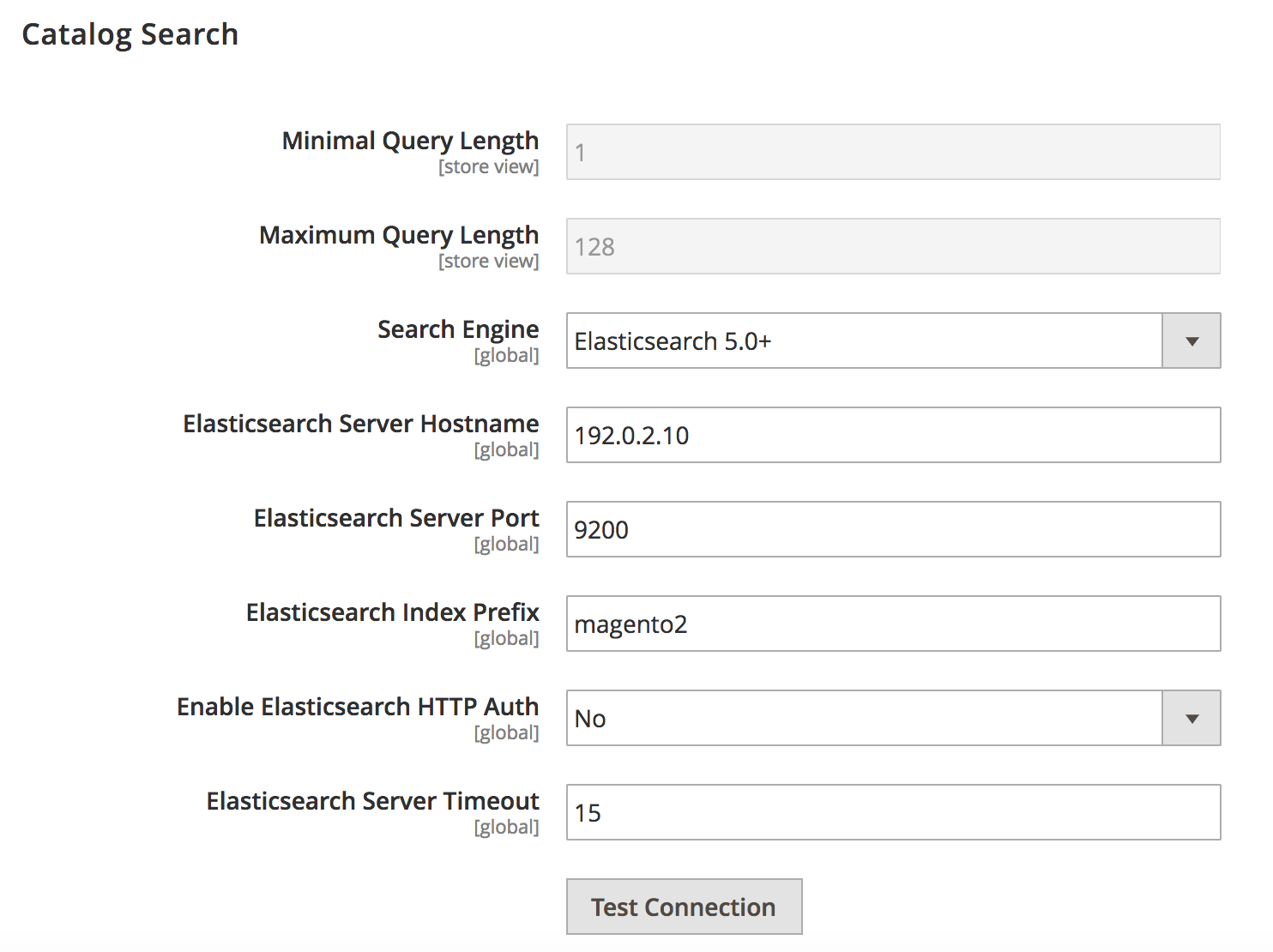 elastic search magento 2.3