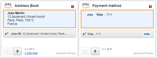 Ejemplo de checkout con Magento Amazon pay